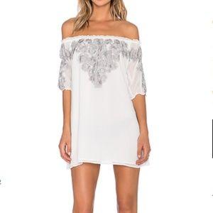 FOR LOVE & LEMONS Sicily Mini Dress Ivory XS